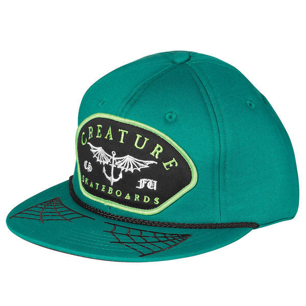 Creature Matey Adjustable Snapback Men's Twill Hat - Forest Green