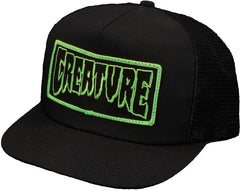 Creature Patch Men's Trucker Hat - Black
