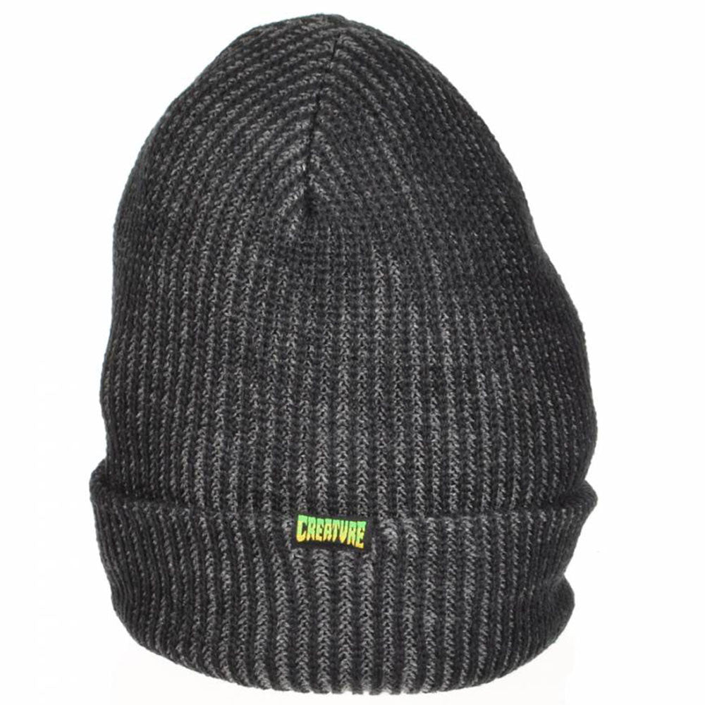 Creature Double Vision Long Shoreman Men's Beanie - OS - Black/Dark Grey