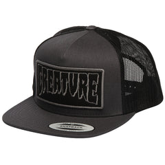Creature Reverse Patch Trucker Mesh Men's Hat - Dark Grey/Black - Adjustable