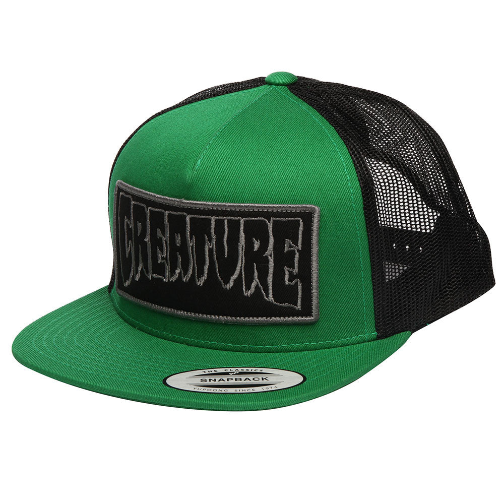 Creature Reverse Patch Trucker Mesh Men s Hat - Forest Black ... 7ff966db5c5