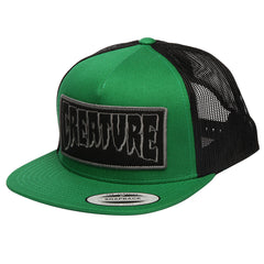 Creature Reverse Patch Trucker Mesh Men's Hat - Forest/Black - Adjustable