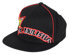 Metal Mulisha Rockstar Arced Men's Hat - Black/Red