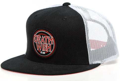 Deathwish Lets Ride Men's Trucker Hat - Black/Red