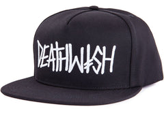 Deathwish Deathspray Men's Snapback Hat - Black/White
