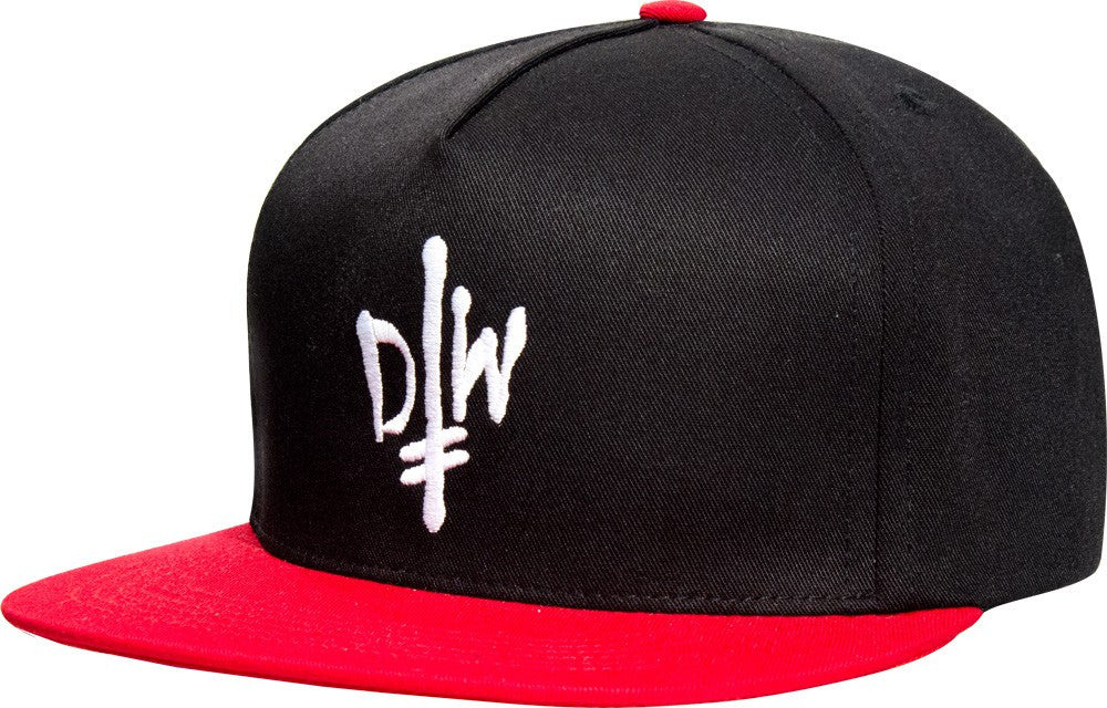 Deathwish DW Street Spray Men's Snapback Hat - Black/Red