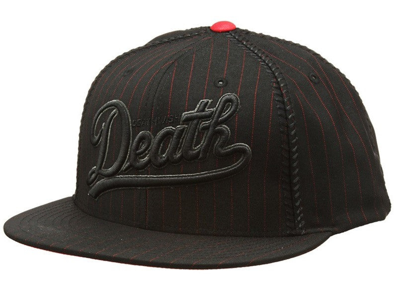 Deathwish Dragon Men's Snapback Hat - Black/Black