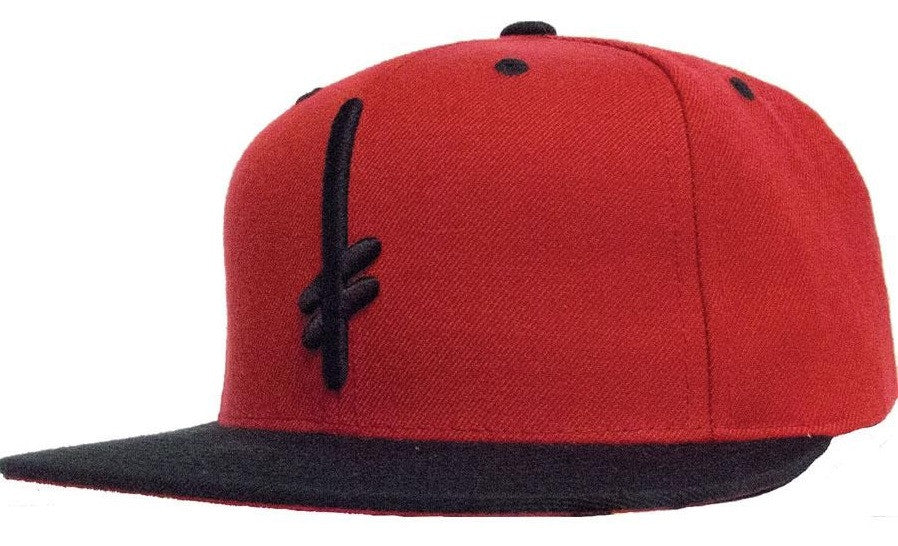 Deathwish Gang Logo Men's Snapback Hat - Red/Black