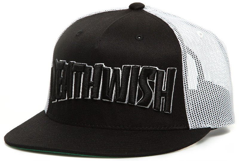 Deathwish Thrash Death Men's Trucker Hat- Black/White
