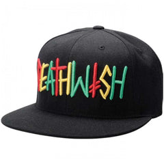 Deathwish Deathspray Snapback Men's Hat - Black/Rasta