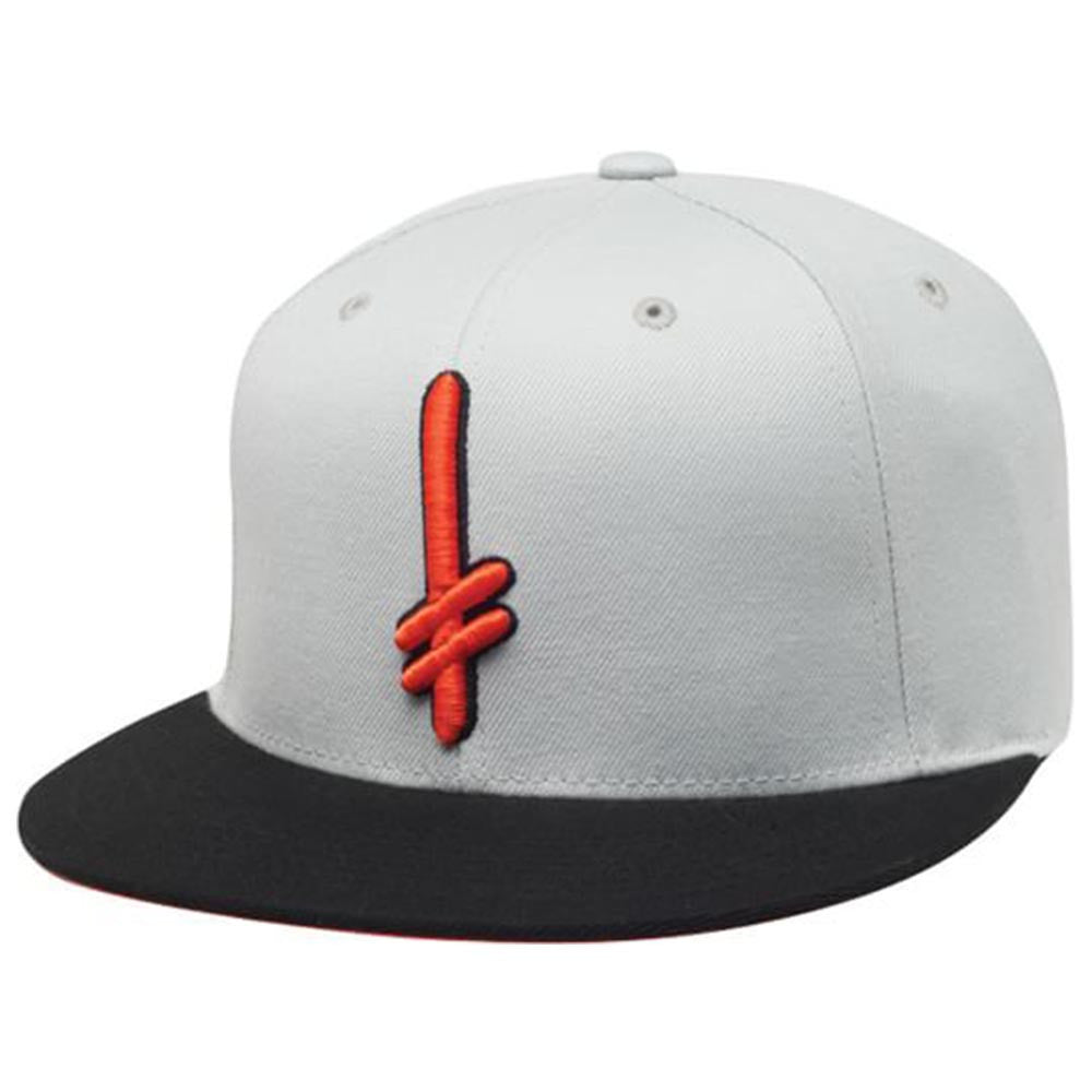 Deathwish Gang Logo Snapback Men's Hat - Grey/Orange/Black