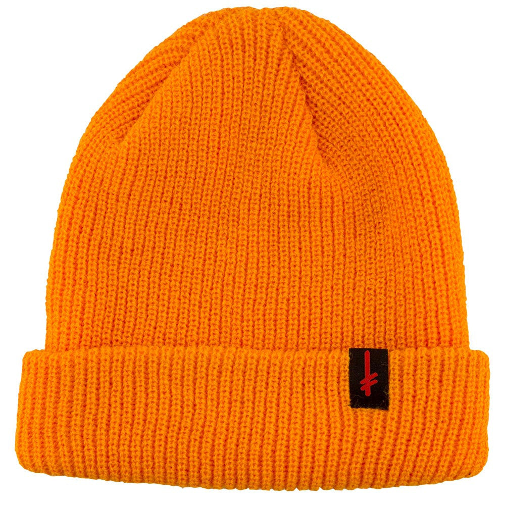 Deathwish Gang Logo Cuff Men's Beanie- Orange