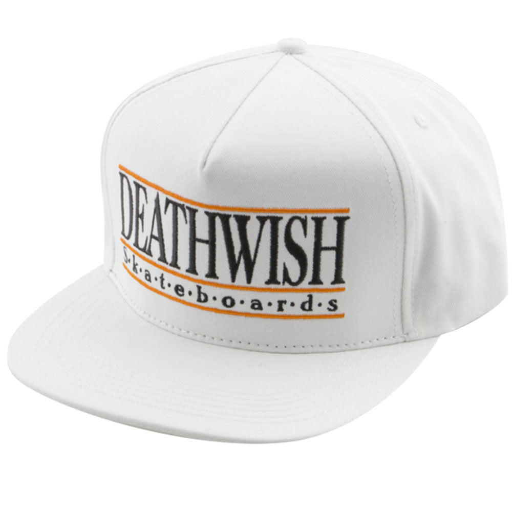Deathwish University Snapback Men's Hat - White