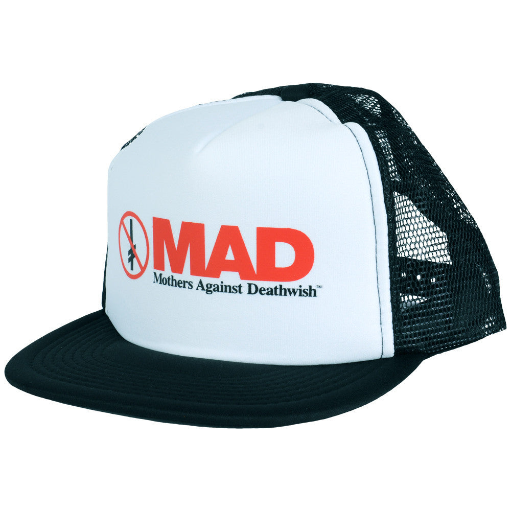 Deathwish MAD Mesh Trucker Men's Hat - White/Black