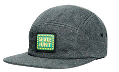 Shake Junt Box Logo Speckled Men's Snapback 5 Panel Hat - Grey