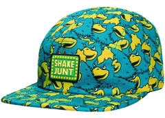 Shake Junt Mascot Craze Men's 5 Panel Hat - Teal