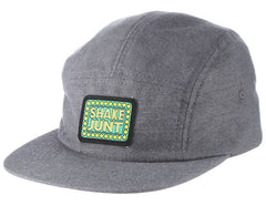 Shake Junt Box Logo Brush Men's Strapback 5 Panel Hat - Grey