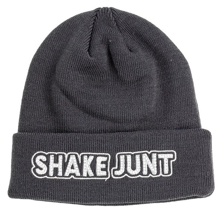 Shake Junt Stretch Logo Men's Beanie - Charcoal