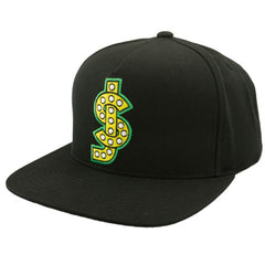 Shake Junt Logo Snapback Men's Hat - Black