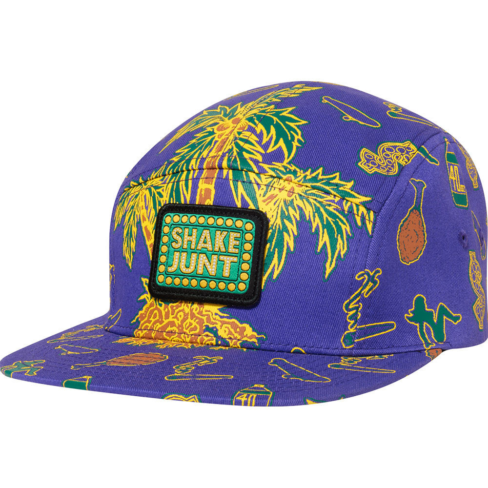 Shake Junt Casual Fridays 5-Panel Men's Hat - Purple/Green