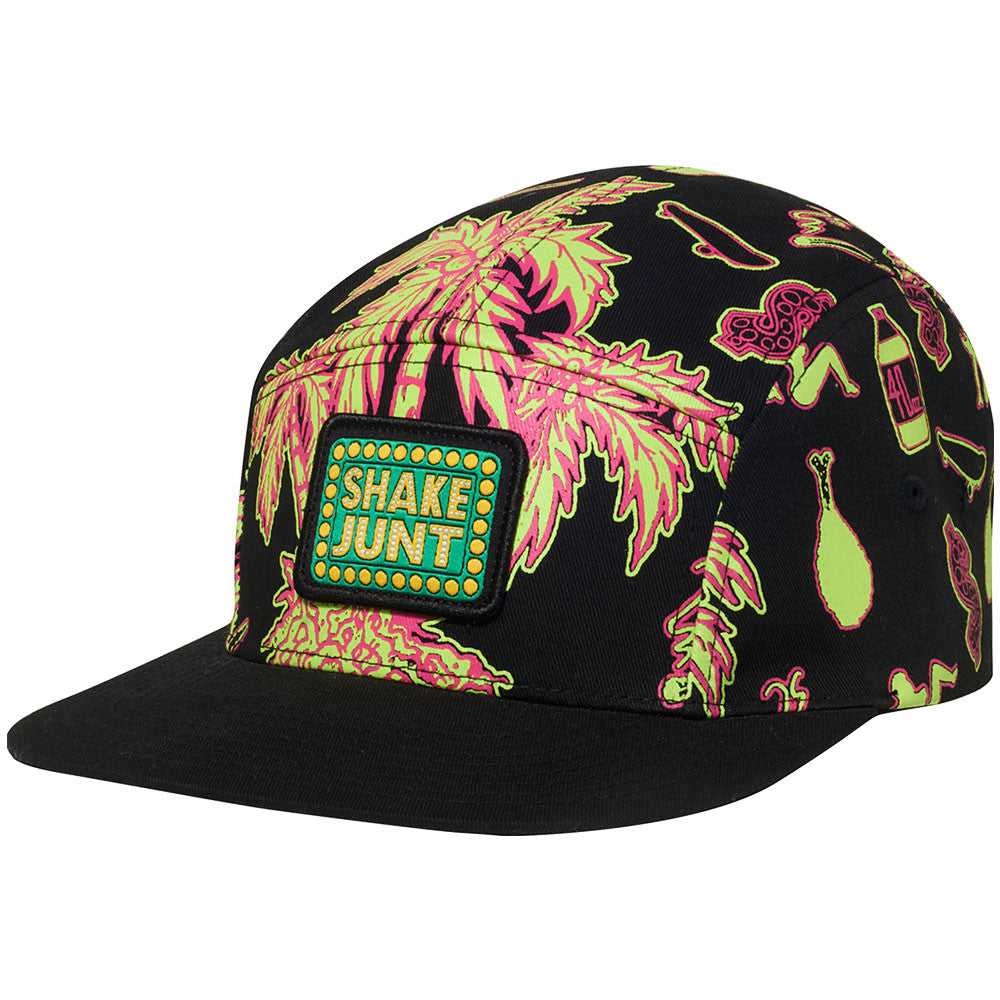 Shake Junt Casual Fridays 5-Panel Men's Hat - Black/Pink