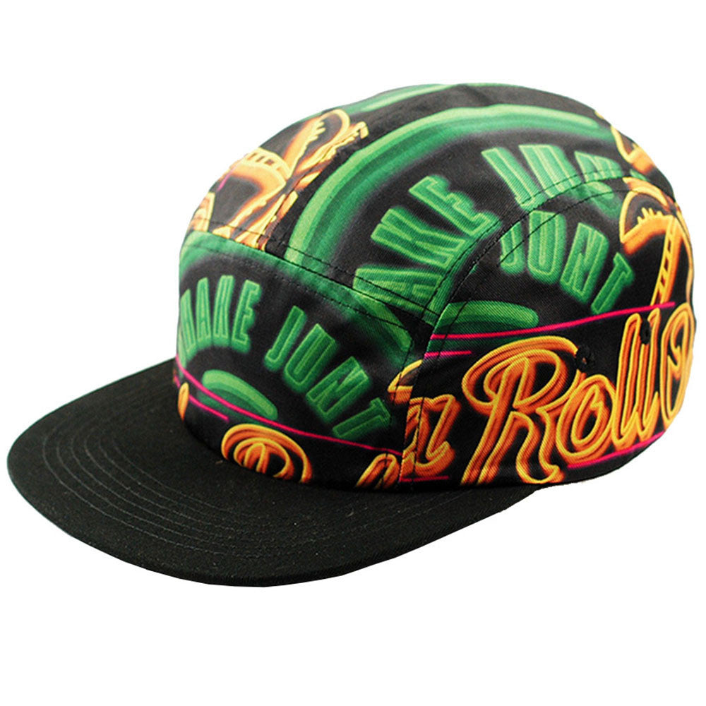 Shake Junt Getcha Glow 5-Panel Men's Hat - Black