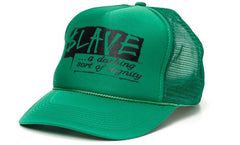 Slave Dignity Mesh Men's Trucker Hat - Kelly Green