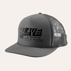 Slave Dignity Trucker Mesh - Charcoal - Men's Hat
