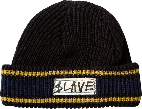 Slave Striped - Black/Navy/Yellow - Beanie