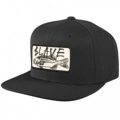 Slave Bass Destruction Snapback Cap - Black - Men's Hat