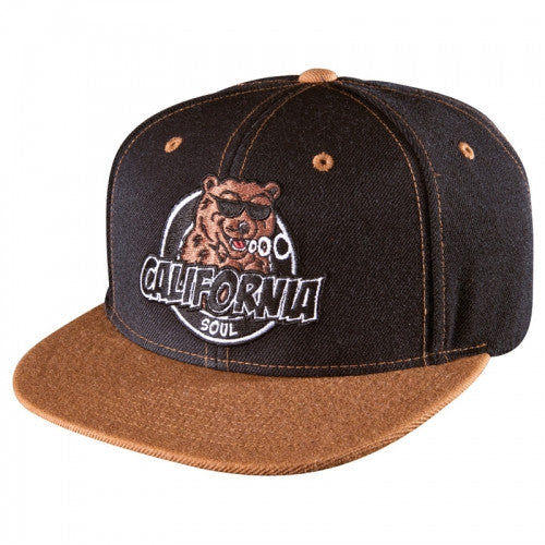 Sk8mafia Cali Soul Adjustable Snap Men's Hat - Brown/Black