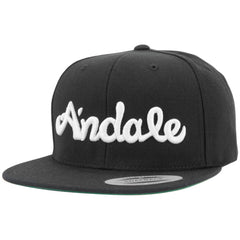 Andale Script Men's Hat - Black/White