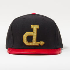Diamond Ben Baller Un-Polo Men's Snapback Hat - Black/Red/Gold