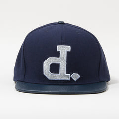 Diamond Ben Baller Un-Polo Men's Snapback Hat - Navy/Silver