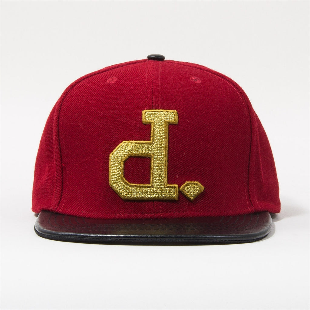 Diamond Ben Baller Un-Polo Men's Snapback Hat - Red/Black/Gold
