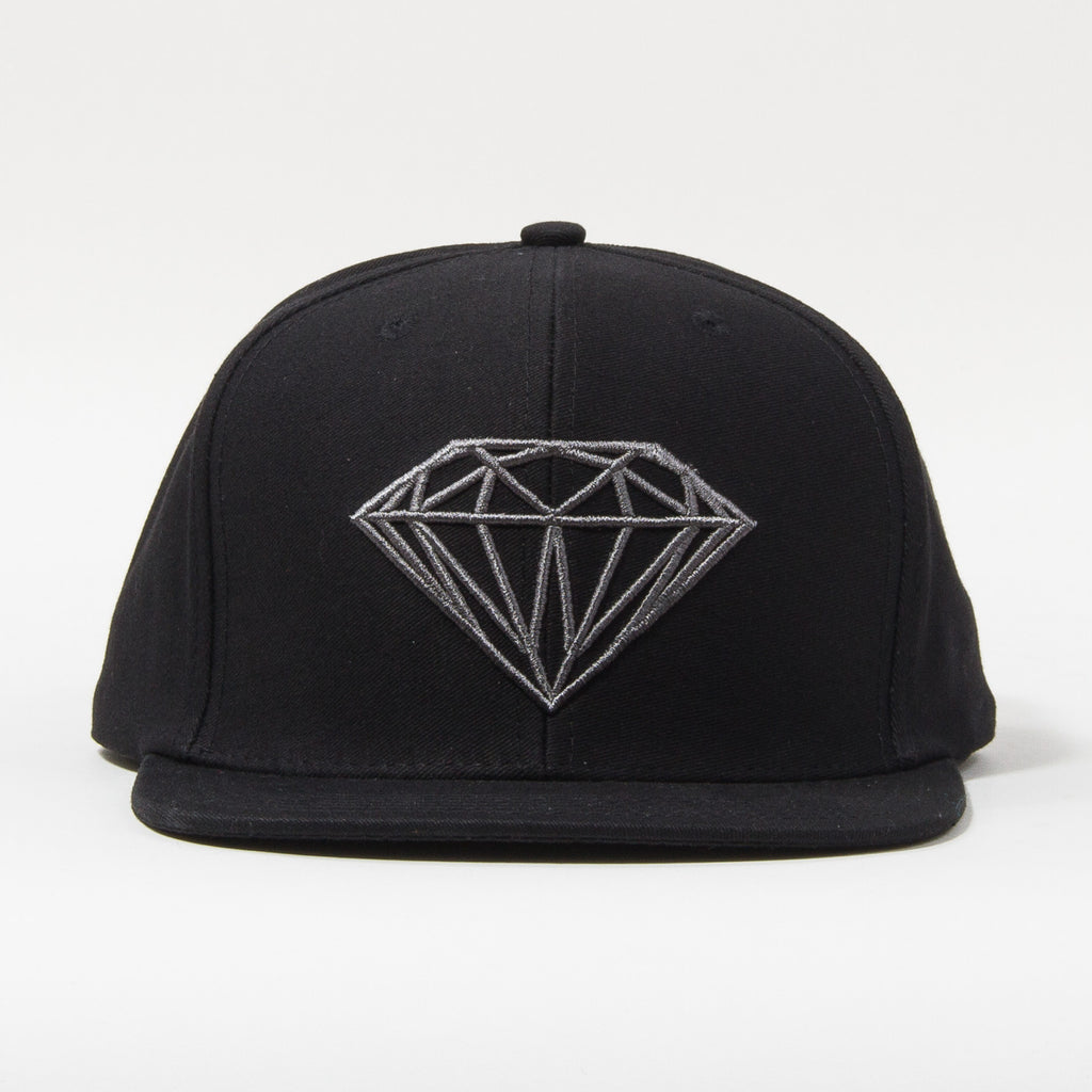 Diamond Brilliant Men's Snapback Hat - Black/Black