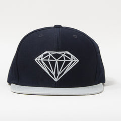 Diamond Brilliant Men's Snapback Hat - Navy/Grey