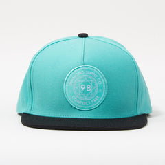 Diamond Conflict Free Men's Snapback Hat - Diamond Blue/Black