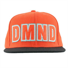 Diamond DMND Felt Embroidered Men's Snapback Hat - Orange
