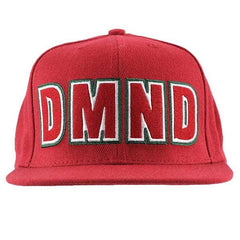 Diamond DMND Felt Embroidered Men's Snapback Hat - Red