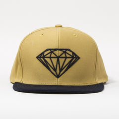 Diamond Brilliant Men's Snapback Hat - Khaki/Navy
