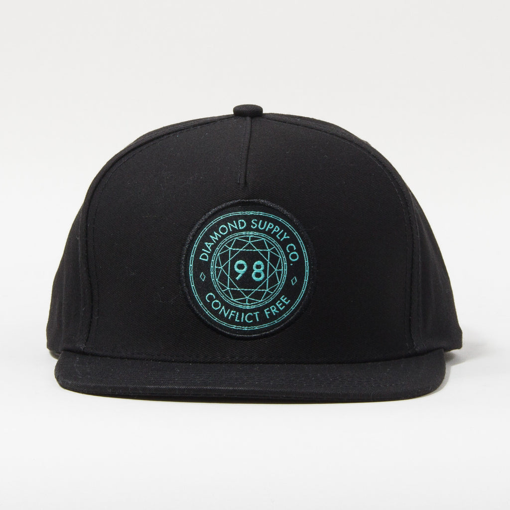 Diamond Conflict Free Men's Snapback Hat - Black