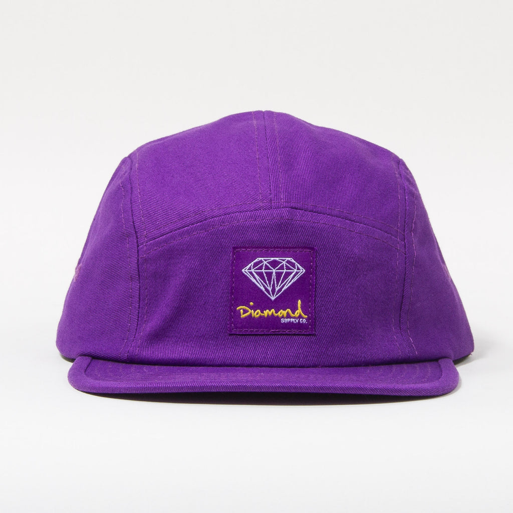Diamond OG Sign Men's Strapback 5-Panel Camp Hat - Purple