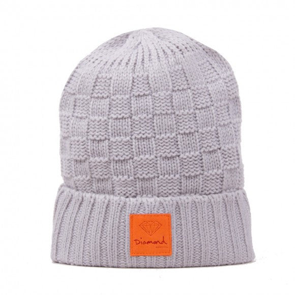 Diamond OG Checker Men's Beanie - Grey