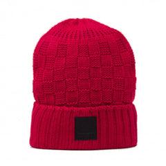 Diamond OG Checker Men's Beanie - Red