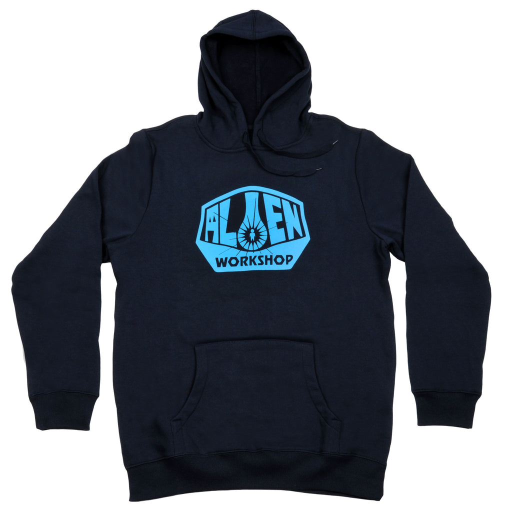 Alien Workshop OG Logo Pullover Hoodie - Navy Blue - Mens Sweatshirt