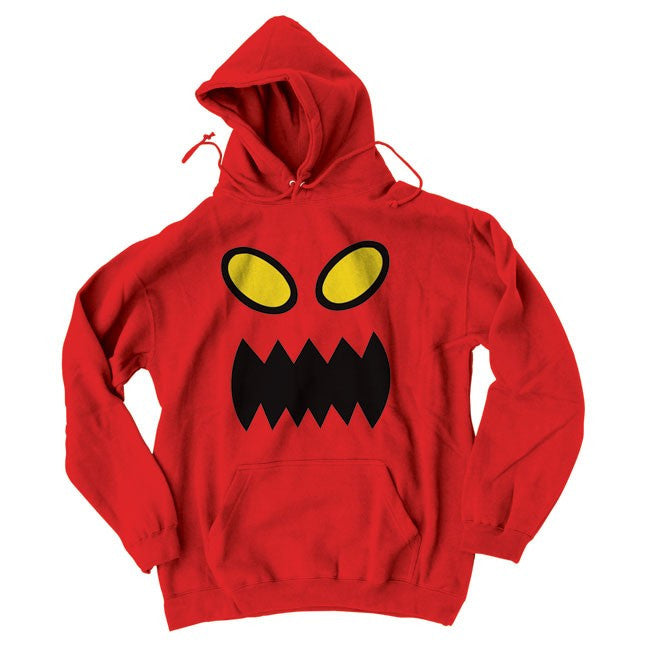 Toy Machine Monster Face Hooded Men's Sweatshirt - Red