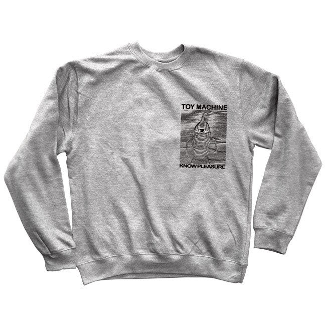 Toy Machine Toy Division Crew Men's Sweatshirt - Athletic Grey