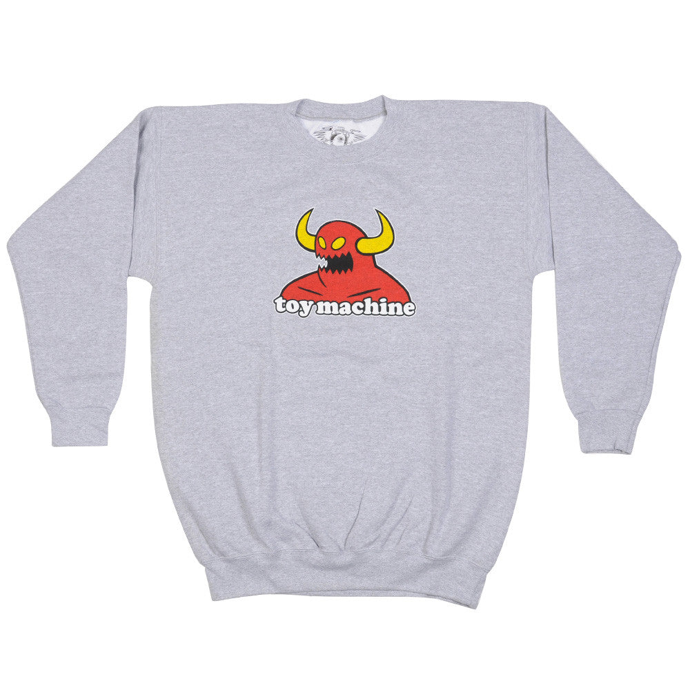 Toy Machine Monster Crew Men's Sweatshirt - Athletic Grey