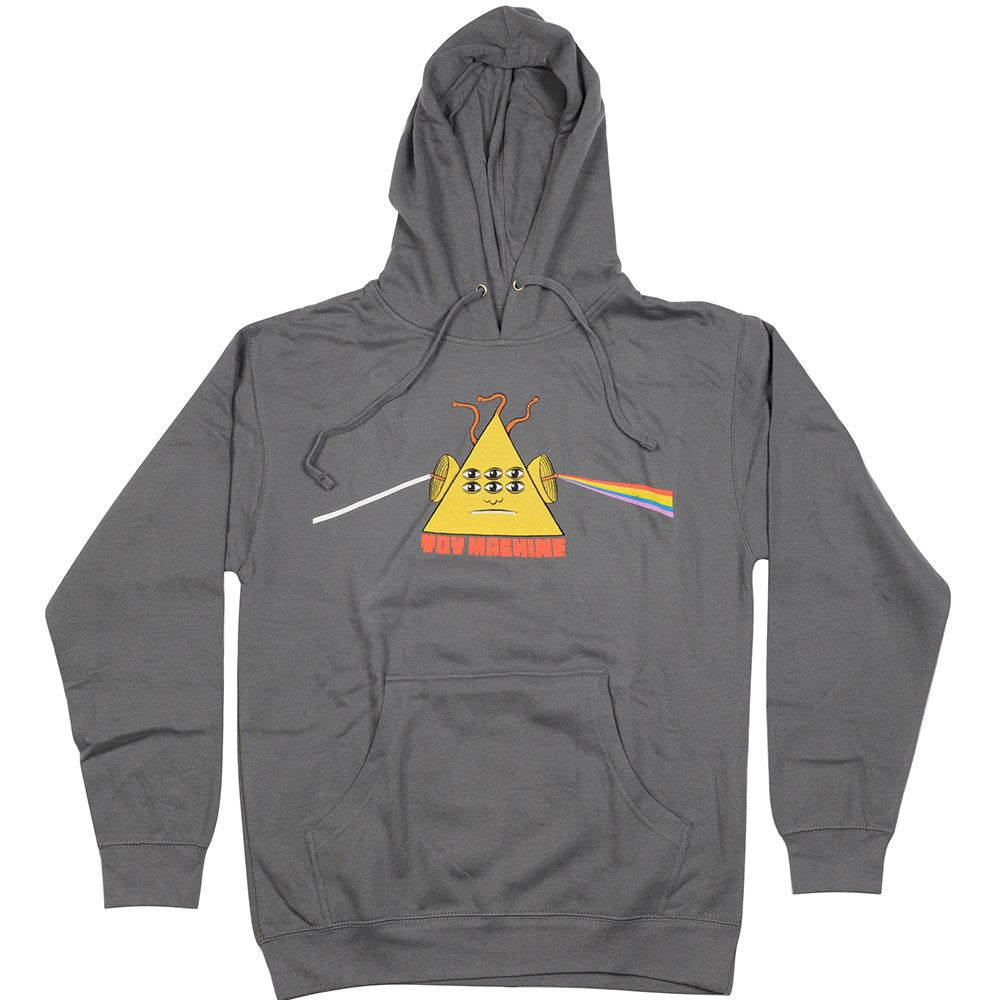Toy Machine Darkside Hooded Men's Sweatshirt - Charcoal